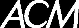 ACM white logo