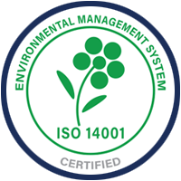 Narrowtex ISO 14001 certified badge