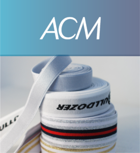 ACM logo and elastic tapes