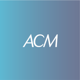 ACM White logo