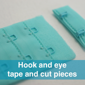 ACM Hook and eye cut pieces for bras