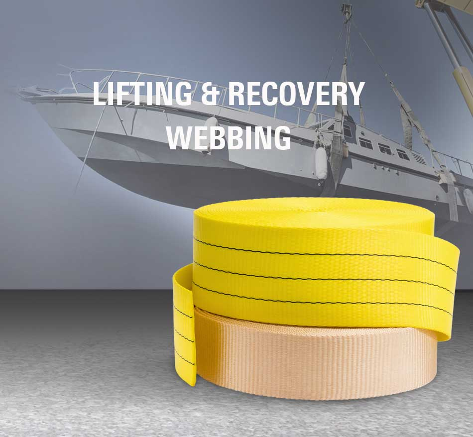 Lifting and recovery webbing