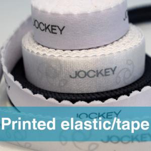 Printed elastic or tape