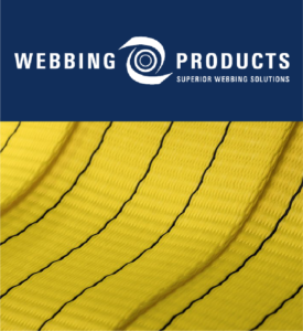 Webbing Products logo with image of lifting webbing